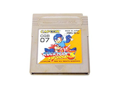 Rockman World 3 (Mega Man III), Japanese Game Boy Japan Import