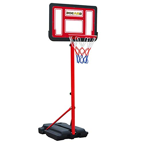 EODPOT Large Teens Professional Backboard Adjustable Basketball Stand, Portable Basketball Hoop,Best Gift for Boys,Men, Basketball Enthusiasts, 1.4m-2m