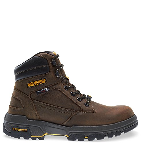 Wolverine Men's Legend LX Waterproof 6' Comp Toe Work Boot, Brown, 10.5 M US