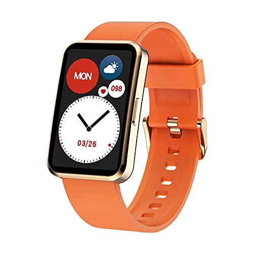 IOWODO Smartwatch,Reloj Inteligente Hombre Mujer con Oxígeno de Sangre(SpO2) Sueño Pulsómetro Podómetro,Recordatorio el Tiempo,IP68,24 Modos Deporte, Pulsera Actividad Inteligente Para Android IOS