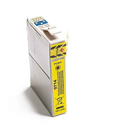 Cartuchos de tinta de repuesto totalmente compatibles para Epson Stylus SX200 SX210 SX215 (amarillo)
