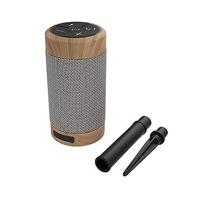 KitSound Diggit 55 Portable Bluetooth Speaker - Brown by Kitsound