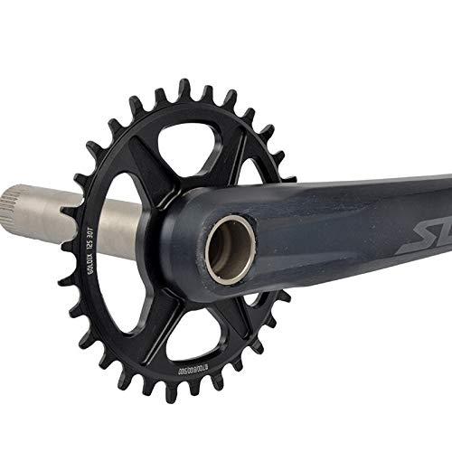 Hojuan Monte 30T 32T 34T 36T Directa 38T Plato de Bicicletas MTB Estrecho Ancho de Bicicletas Chainwheel/Fit For/D eore XT M7100 M8100 M9100 12S Bielas (Color : Dazzling 32T)