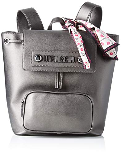 Love Moschino - Jc4030pp18lc0906, Unisex adulto, Gris (Fucile), 28x13x26 cm (W x H L)