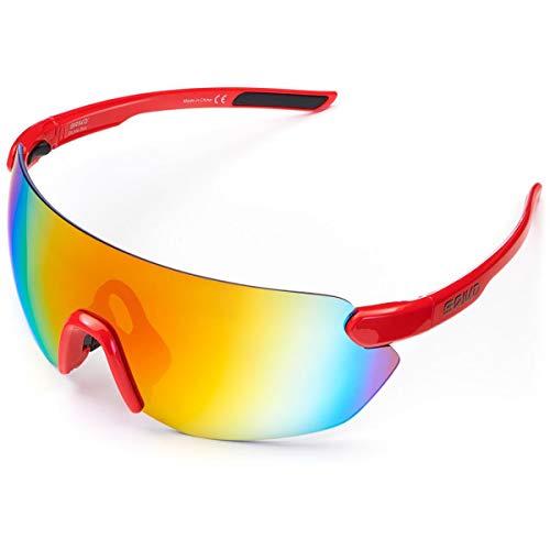 Briko Starlight - Occhiali da sole da ciclismo, unisex, per adulti, motivo: crismon, One