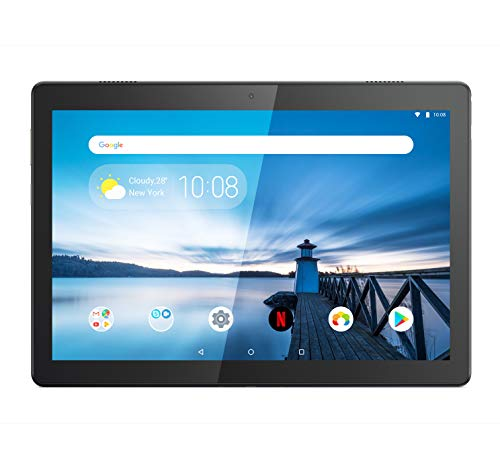 "Lenovo TAB M10 Tablet, Display 10,1"" Full HD IPS, Processore Qualcomm Snapdragon 450, Storage 32GB espandibile fino a 256GB, RAM 3GcB, WIFI+LTE, 2 Speaker, Android Pie, Slate Black"