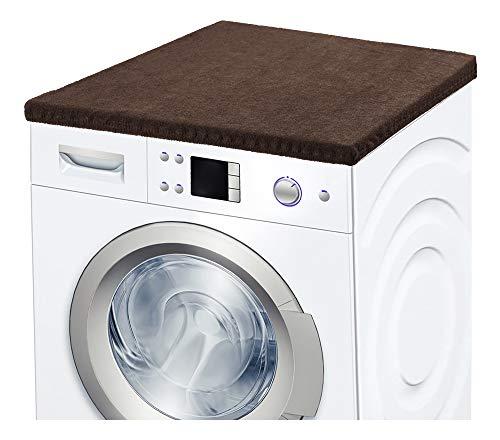 Ladeheid Waschmaschinenbezug Frotteebezug 50x60 cm (Braun)