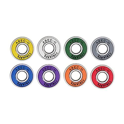 MeterBew1147 8 piezas ABEC-11 Patines en línea resistentes y duraderos con cojinete 608rs 8Mm Beaing para patines FSK Patineta Scooter - Multicolor 22X8Mm