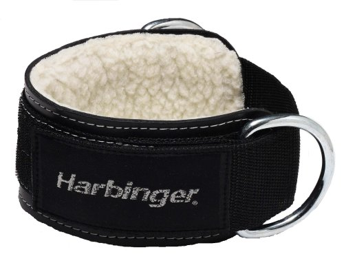 Harbinger Padded 3-Inch Ankle Cuff with Double Ring Attachment