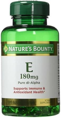 Max 67% OFF Nature's Bounty Vitamin E 180mg Pack High quality DL-Alpha 120 Softgels Pure
