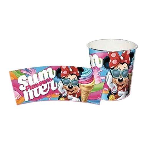 KIDS EUROSWAN - Pattumiera in plastica Grande, 22 x 21 cm, Modello Minnie Mouse, Composito, Multicolore, 25 x 7 x 20 cm
