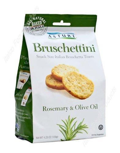 Asturi Rosemary & Olive Oil Bruschettini (Snack Size Italian Bruschetta Toasts)