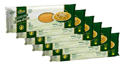 Pasta d´oro – Glutenfreie Nudeln (Fettuccine) aus Maismehl 12er Pack (12 x 500 g)