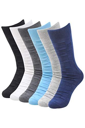 Balenzia Men's Cotton Crew Socks (Multicolor)- Pack of 6