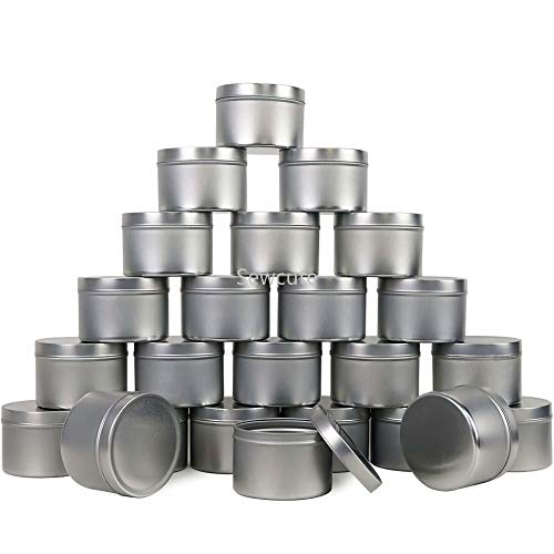Candle Containers|15pack Candle Tin Metal Empty Candle Jar Containers Slip-On Lids for Candle Making Party Favors Food Spices Balms Gels Storage Candle Supplies Candle Making Kit| by EGALIVE