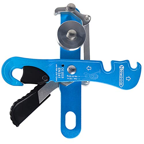 NewDoar Climbing Stop Descender Rappelling Belay for Ropes 9-12mm The Novices for Rescue & Arborist CE Certification(Blue)