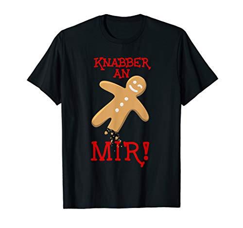 Knabber an mir! Lebkuchenmännchen Lebkuchenhaus Naschkatze T-Shirt