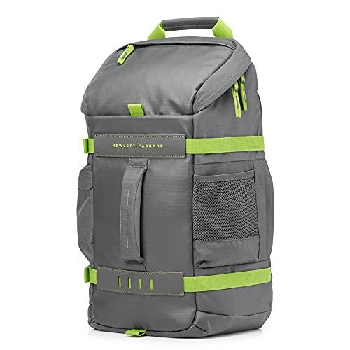 HP Odyssey Sport Rucksack (15,6 Zoll, Kabelführung, rückseitiges Laptopfach) grau/grün