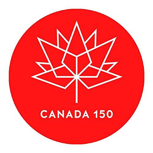 hetingyue Autocollant Mural en Vinyle Autocollant Anniversaire Canadien fenêtre de Voiture Logo décoration Amovible Affiche Murale Papier Peint Art 45x45 cm