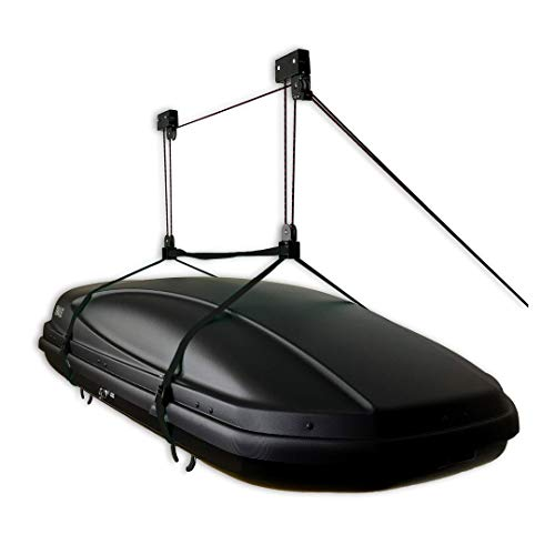 StoreYourBoard Cargo Box Ceiling Storage Hoist, Rooftop Carriers, Hi Lift Pro Garage Organizer Pulley, Hanger Rack