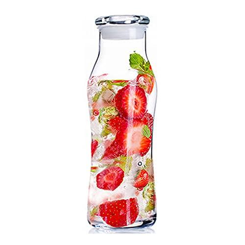 Eervff Botella De Vidrio Sin Plomo Botella Sellada Multiusos Botella De Bebida De Leche De Jugo De Fruta 565 Ml