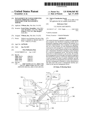 Management of cloud-computing facility through a virtual infrastructure management server: United States Patent 9946565 (English Edition)
