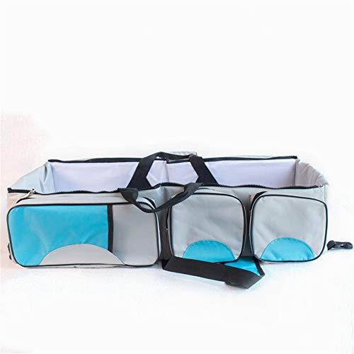 petit chariot portatif matelas pliable voyage berceau sac de couches de remplacement et de 0 à 12 mois lit d'enfant portatifs,blue