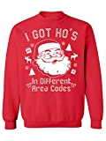 Awkwardstyles I Got Hos in Different Area Codes Sweater Ugly Christmas Crewneck M Red