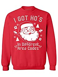 naughty ugly Christmas sweater ideas Santa area codes