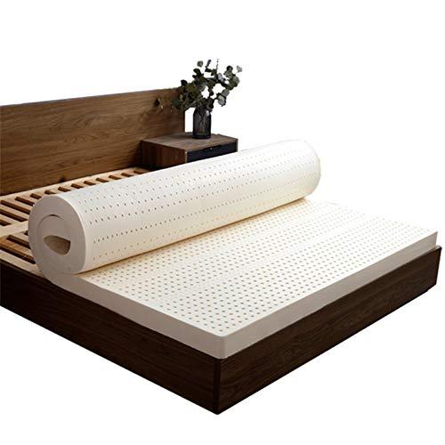 DUTUI Natural Latex Mattress, Rubber Massage Mattress, Tatami Mattress for Children, Comfortable and Breathable, Quiet Sleep, Release Pressure,90x200x10cm