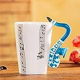 Chunhui-riyongbaihuodian Chic Las Notas Musicales de la música Taza Taza Taza Taza de cerámica Taza de Leche de Las Tazas de la Guitarra eléctrica Z