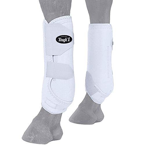 Tough-1 Vented Sport Boots Front Small White