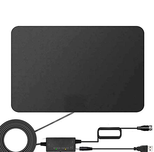 HD TV Antenna, 2021 Amplified Digital Indoor Indoor HDTV Antenna Up to 120 Mile Range, Powerful Signal Booster. Support 4K 1080p Fire tv Stick and All Old Tvs. 16.5ft Coax HD TV Cable