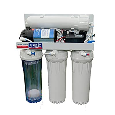 Vyair RO-50MP 4-Stage 50 Gallons Per Day (189 litres) Reverse Osmosis Water Filter System with Pump and MB-115 DI Resin Stage for Marine Aquariums and Window Cleaning