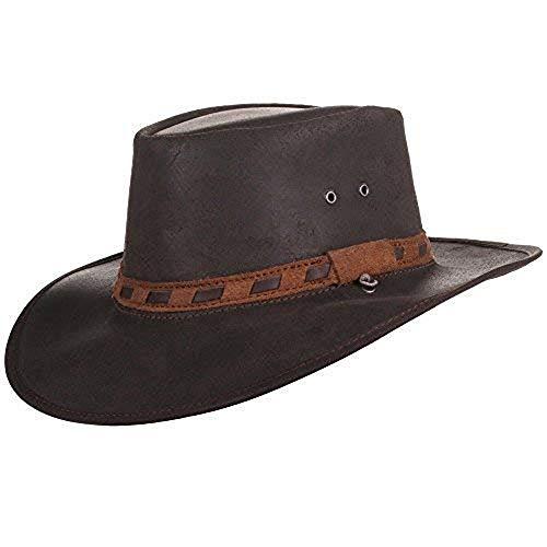 Bushman Sahara Cuero Sombrero, Size:L - 58-59cm