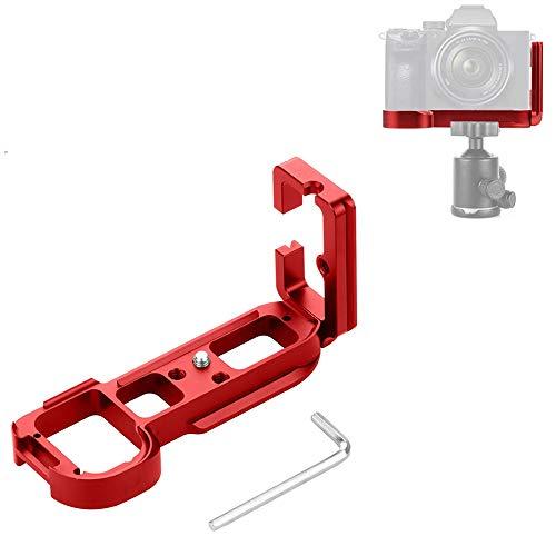 Linghuang Universal Quick Release Plate L Soporte de Camara para Sony A7R / A7 / A7R S / A7M2 Liberación rápida Soporte de Placa de Soporte de Placa L Soporte de la Base (Rojo)