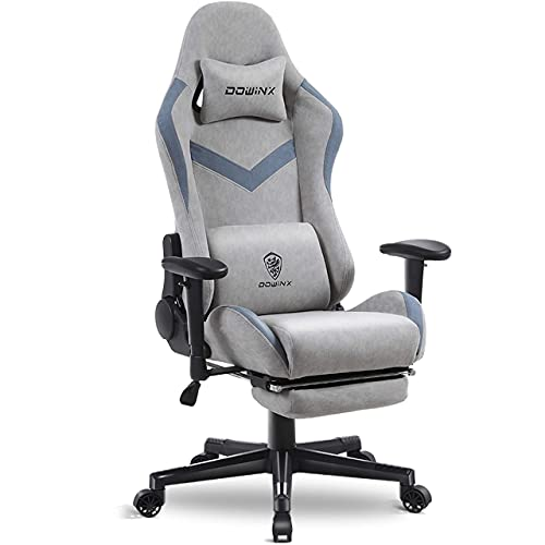 Dowinx Gaming Chair Breathable Fabric Office Chair with Massage Lumbar...