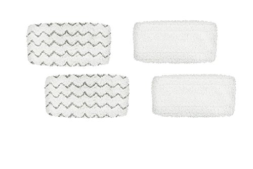 Steam Mop Pad Kit for Bissell Symphony Hard Floor Vacuum and Steam Mop 1132, 1543 Series, by AI-Vaccum, Pack of (4)
