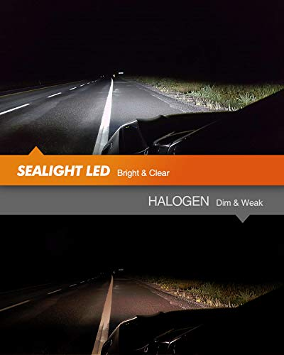 SEALIGHT 9005/HB3 9006/HB4 LED 14000LM LED Bulbs Combo Package CSP Chips 6000K Cool White