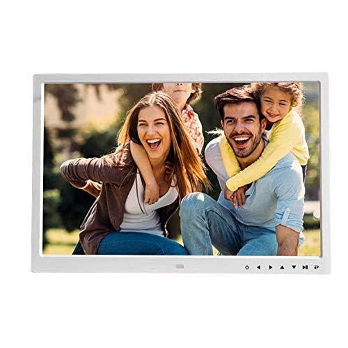 17 pollici 1920x1080 HD Cornice digitale,alta risoluzione,Supporta lettore musicale e video, sveglia, calendario(Bianco)
