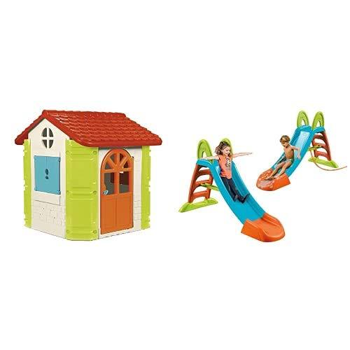 Feber House Casetta Da Gioco, 800010248 & Famosa 800009001, Scivolo Feber Junior, 42 X 28 X 120 Cm