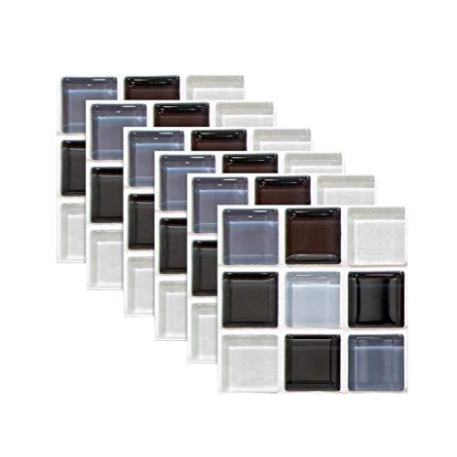 3D Ziegel Tapete,Steintapete 3D Tapete selbstklebend Ziegelstein Wandtapete Wandaufkleber Tapete Wandpaneele selbstklebend für Wohnzimmer, Schlafzimmer Flur Badezimmer,6PC