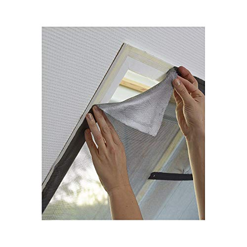 MADECO Moustiquaire fenêtre de Toit L.130cm x H.Jusqu'à 150cm