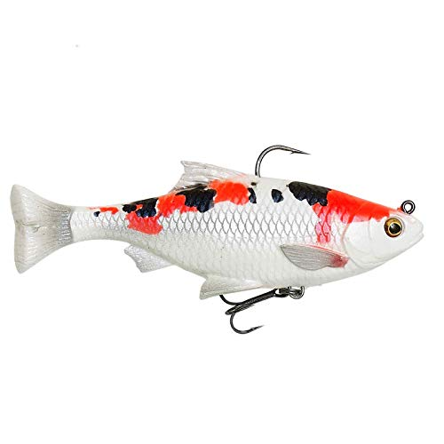 Savage Gear Lot de 2 leurres de pêche 3D Line Thru Pulse Tail Roach (Koi, 13 cm/38,5 g)
