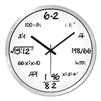 現代の壁時計数学方程式壁時計創造的な壁時計パーソナリティミュートサイレントウォールチャートストレート学生クラス学校の教室の時計