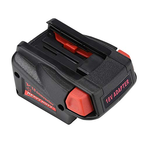Delaman Adaptateur de Batterie,Batteries Milwaukee Milwaukee 18v convertisseur d'adaptateur de Batterie pour Batterie Li-ION Milwaukee m18 vers pour Batterie Milwaukee V18 18V