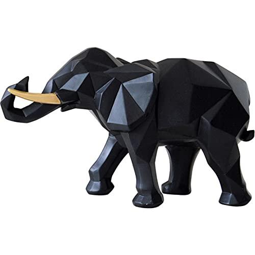 NBLL Figuras de Elefantes, 2 Piezas de Adornos de Resina de Elefantes, Accesorios para el hogar, artesanías, Tallado a Mano, para decoración Sala de Estar, Dormitorio y Oficina