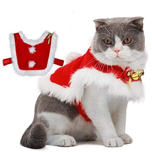Disfraz de Navidad para Perros, Ropa para Perros de Navidad/Disfraz de Capa navideña con Campanas para Fiesta de Perros medianos