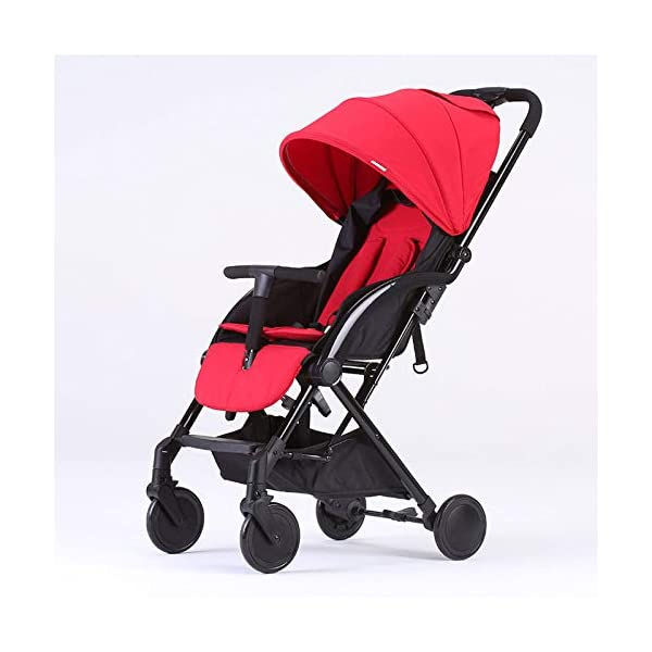 JXCC Double Strollers Baby Pram Tandem Buggy Newborn Pushchair with Adjustable Backrest- Black/Red -Safe And Stylish A JXCC 1. {Multi-angle adjustable}: You can sit down and adjust the angle from 0 to 175 degrees for all occasions. 2. {Light capsule car, detachable and separate}: Only 5.9kg, diamond car, can be on the plane, comfort zone baby, can be a single cart or can be combined into two cars 3. {Two-way implementation}: - Two-way implementation, switching parent-child mode 8
