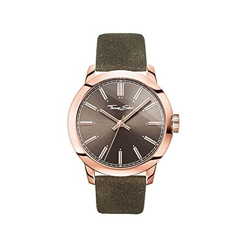 Thomas Sabo Reloj para señor Rebel at Heart Correa de cuero marrón en look vintage WA0314-266-205-46 mm
